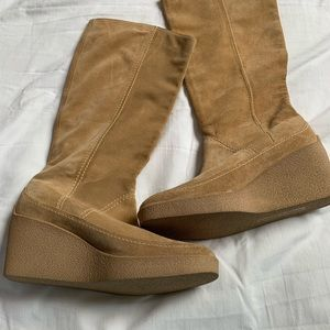 Robert Clergerie Shoes - Robert Clergerie, suede boots, size 6, wedge heel